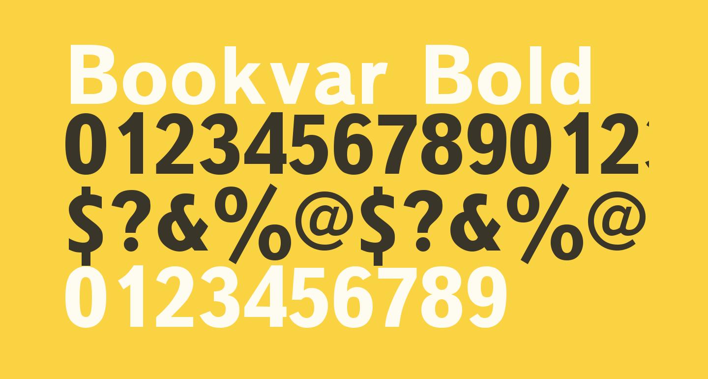Bookvar Bold