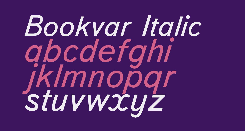 Bookvar Italic