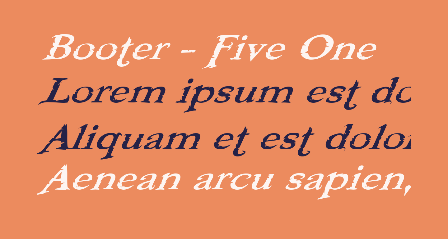 Booter - Five One