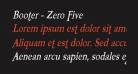 Booter - Zero Five