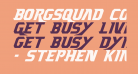 Borgsquad Condensed Italic