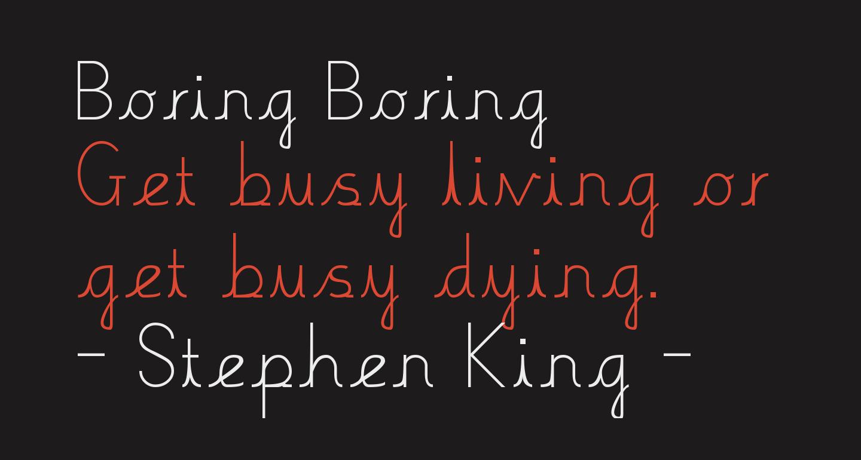 Boring Boring
