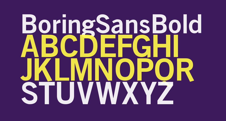 BoringSansBold