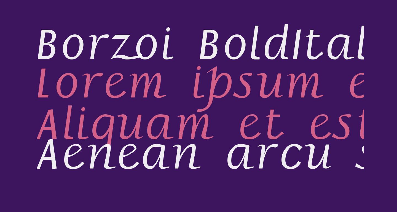 Borzoi BoldItalic