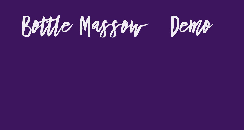 Bottle Massow - Demo