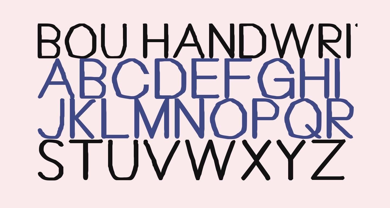 Bou Handwriting Titling