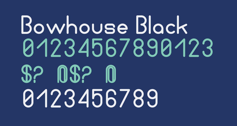 Bowhouse Black