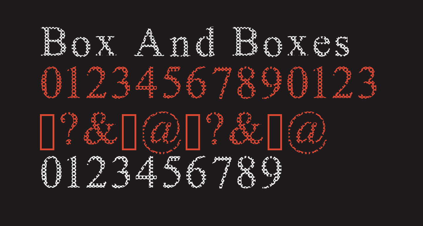 Box And Boxes