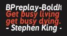 BPreplay-BoldItalic