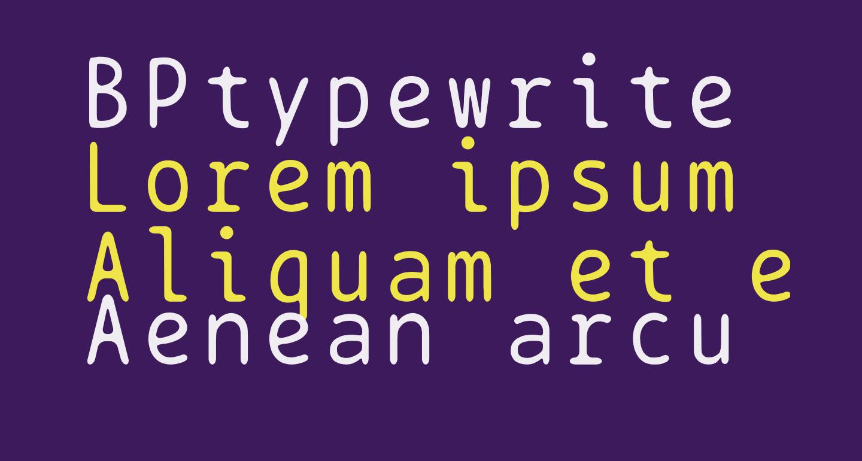 BPtypewrite