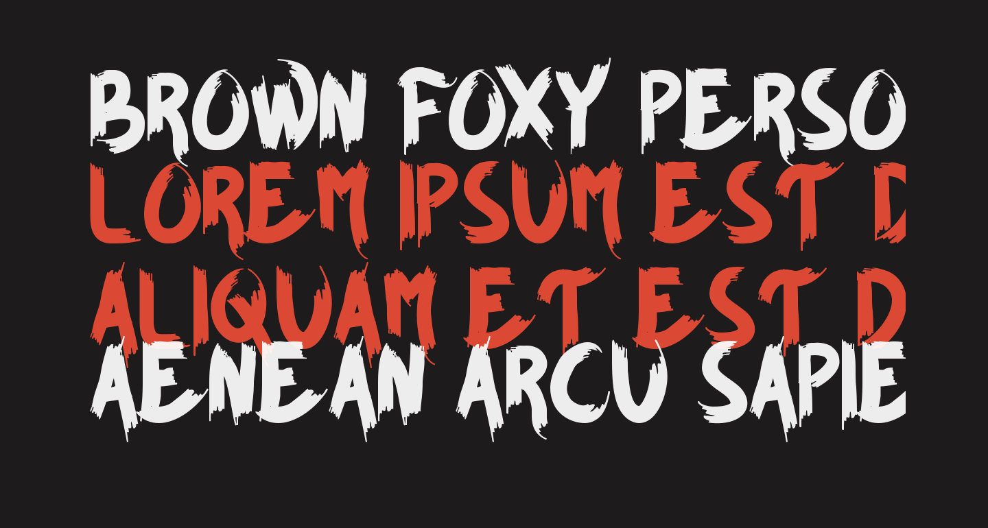 BROWN FOXY Personal Use Only