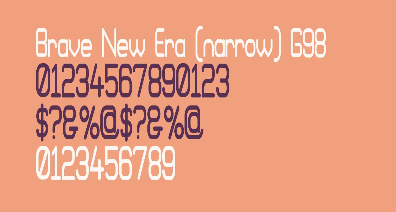 Brave New Era [narrow] G98