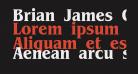 Brian James Condensed Bold