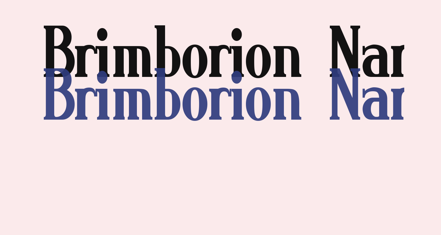 Brimborion Narrow