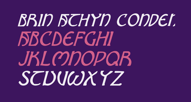 Brin Athyn Condensed Italic