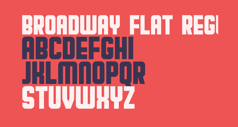 Broadway Flat Regular