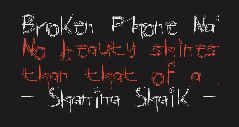 Broken Phone Nails