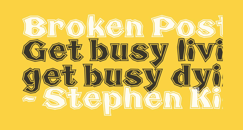 Broken Poster Tour