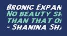 Bronic Expanded Italic