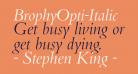 BrophyOpti-Italic
