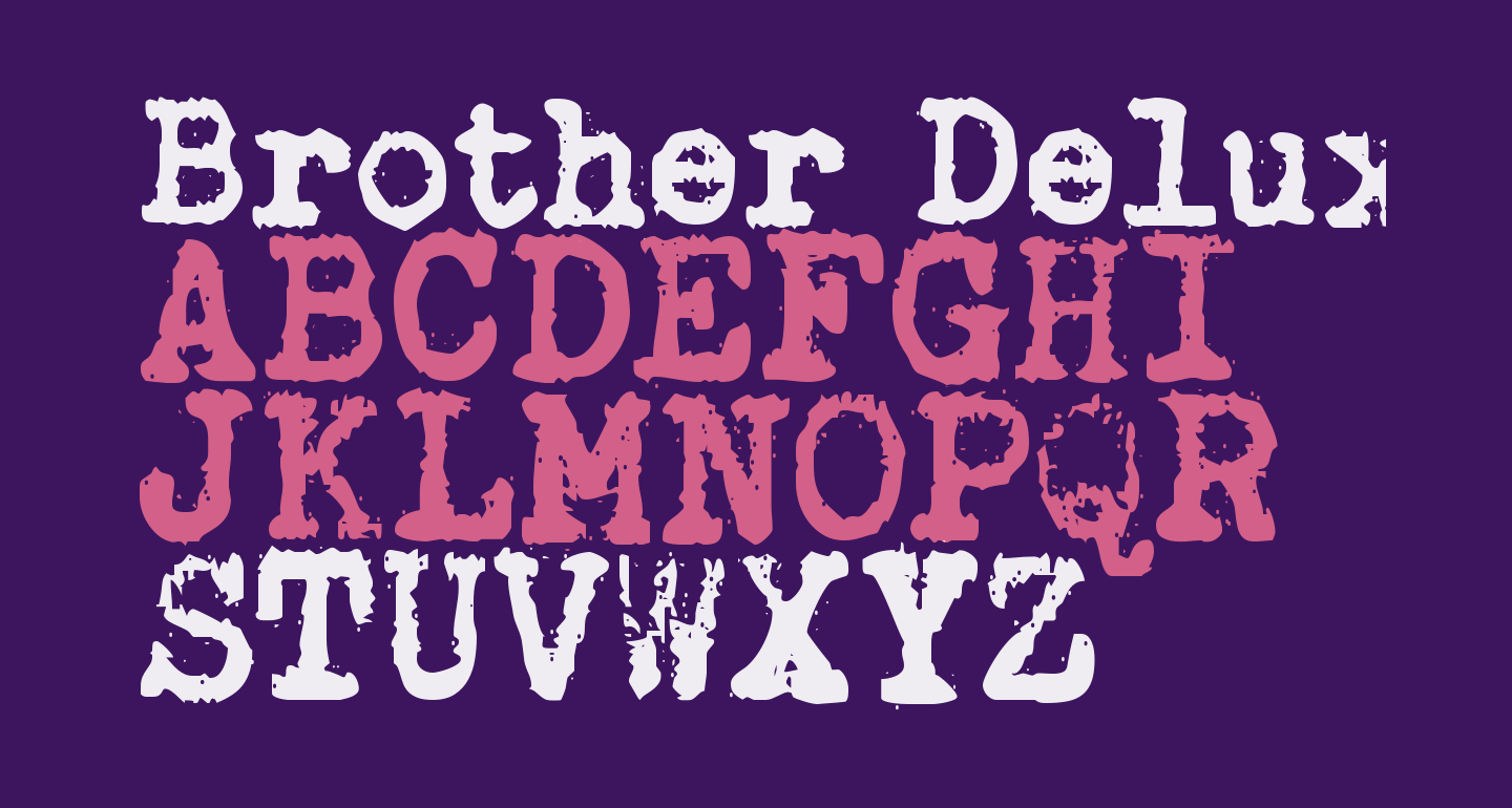 Brother Deluxe 1350 Font