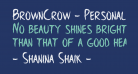 BrownCrow - Personal Use Only