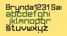 Brynda1231 Sans Regular