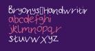 Bryonys_Handwriting_Thin
