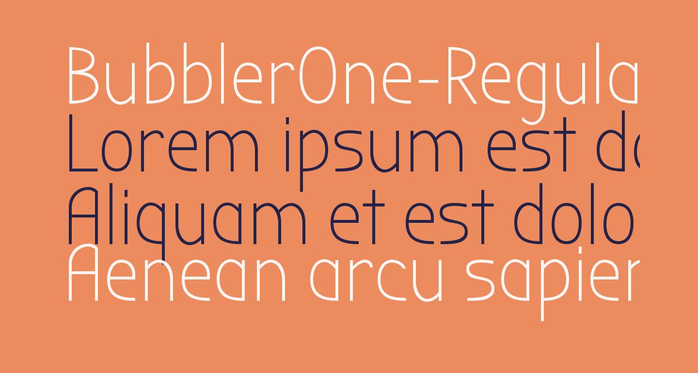 BubblerOne-Regular