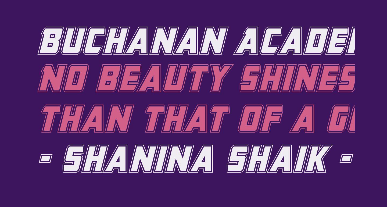 Buchanan Academy Italic
