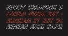 Buddy Champion 3D Italic