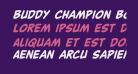 Buddy Champion Bold Italic