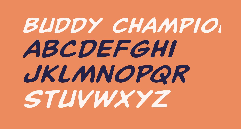 Buddy Champion Expanded Italic