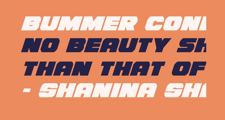 Bummer Condensed Italic