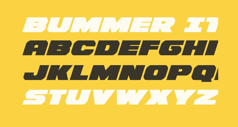 Bummer Italic