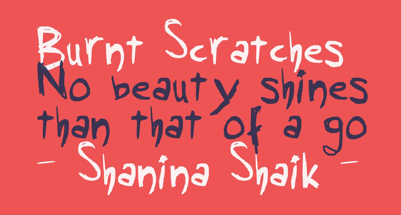 Burnt Scratches
