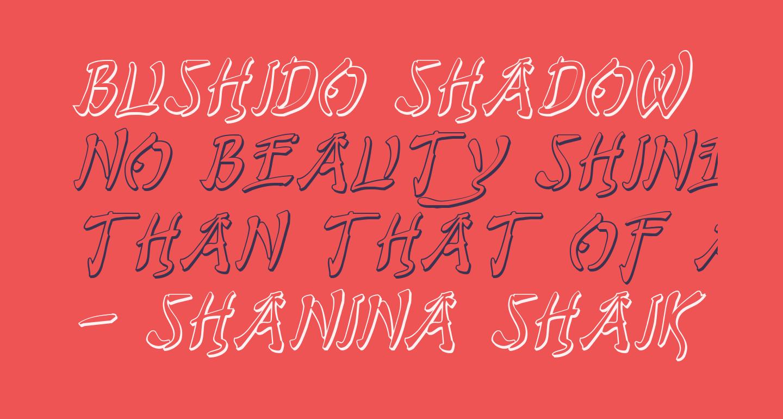 Bushido Shadow Italic