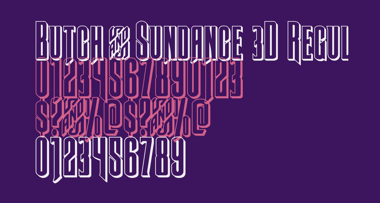 Butch & Sundance 3D Regular