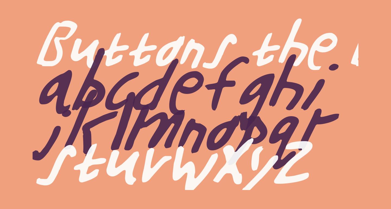 Buttons the Bear Light Italic