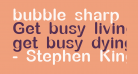 bubble sharp