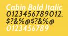 Cabin Bold Italic