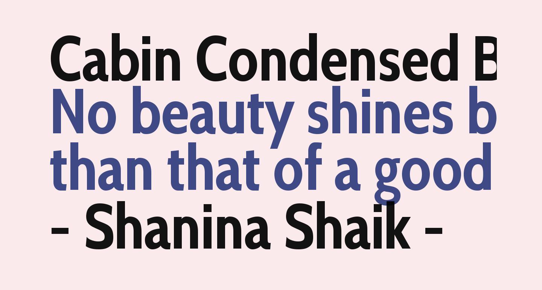 Cabin Condensed Bold