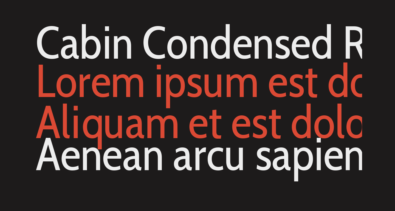 Cabin Condensed Regular