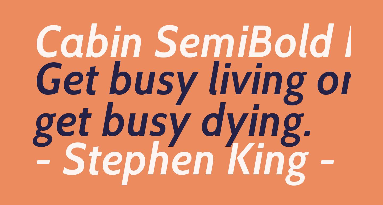 Cabin SemiBold Italic