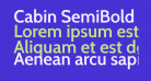 Cabin SemiBold