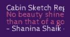 Cabin Sketch Regular