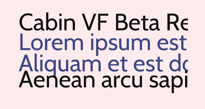 Cabin VF Beta Regular