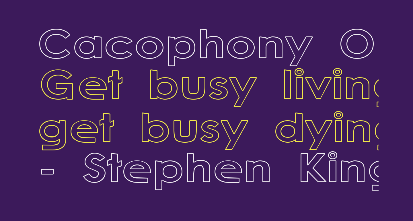Cacophony Out Loud