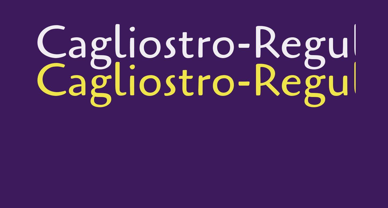 Cagliostro-Regular