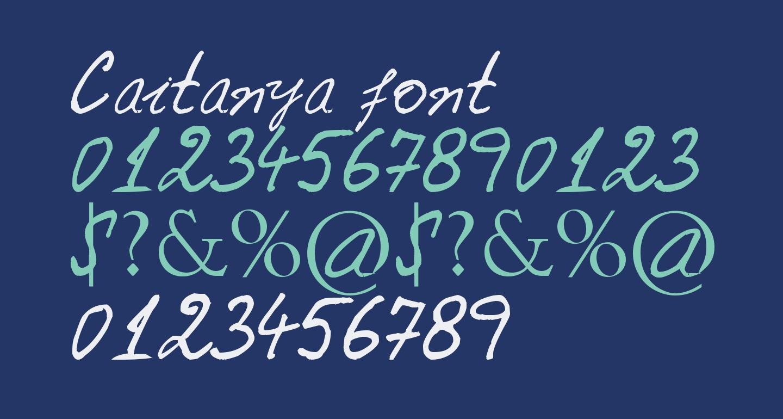 Caitanya font